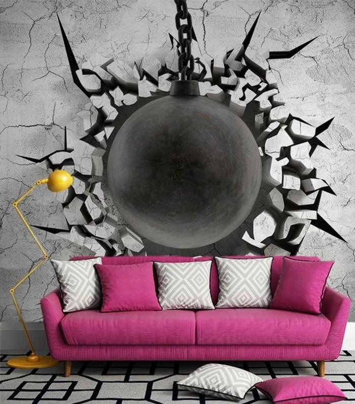 rêvetement-mural-trompe-l'oeil-papier-peint-salon-original