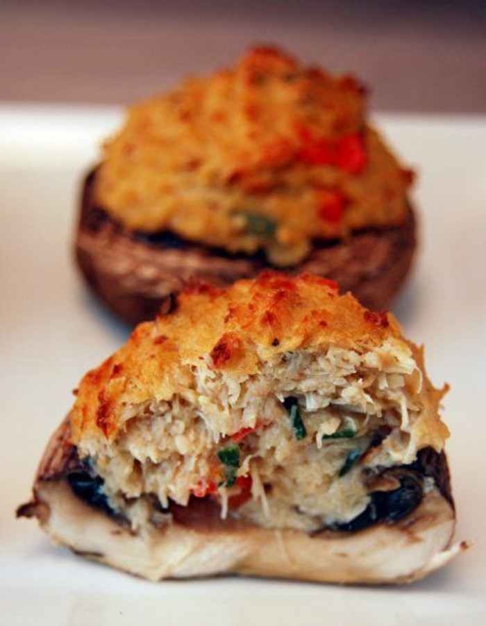 recette-champignon-farci-à-la-viande-et-au-fromage