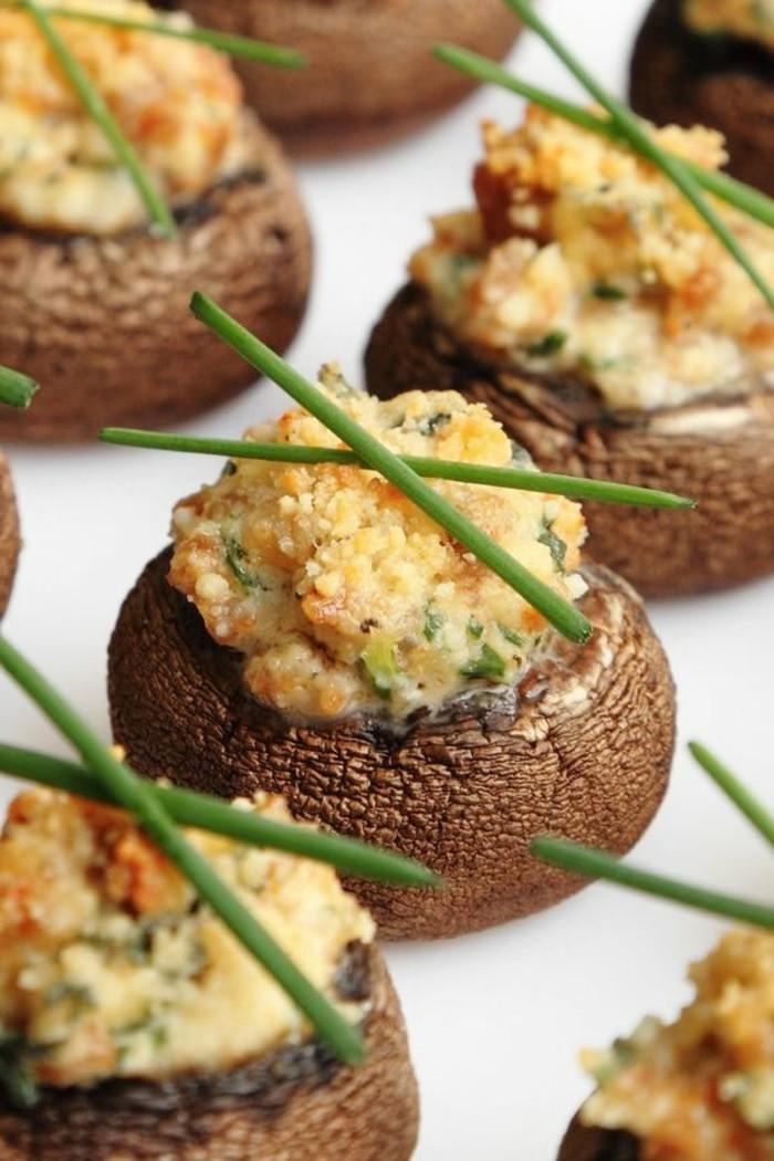 recette-champignon-farci-brins-d'épices-aromatiques