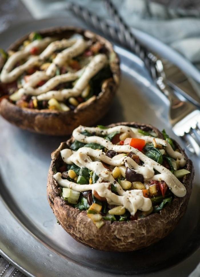 recette-champignon-farci-champignons-aux-légumes-et-à-la-mayonnaise