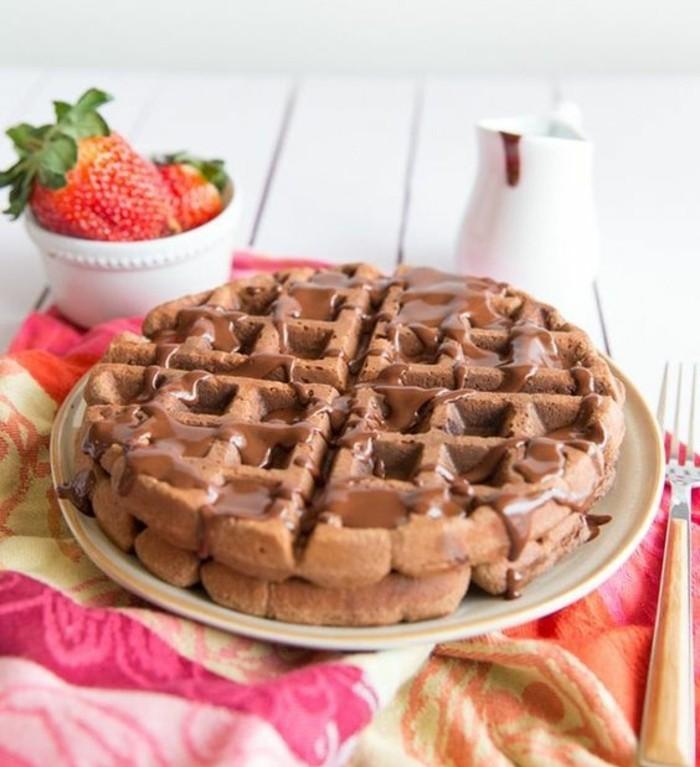 merveilleuse recette gaufre légère au chocolat et aux noix de pécan