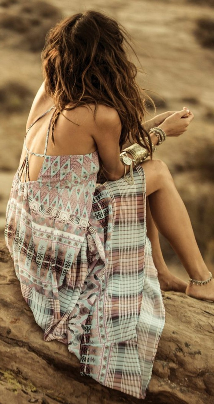 robe boheme, tenue d'été et robes de plage