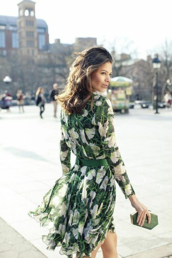 robe-casual-femme-robe-pour-tous-les-jours-vert-et-blanc