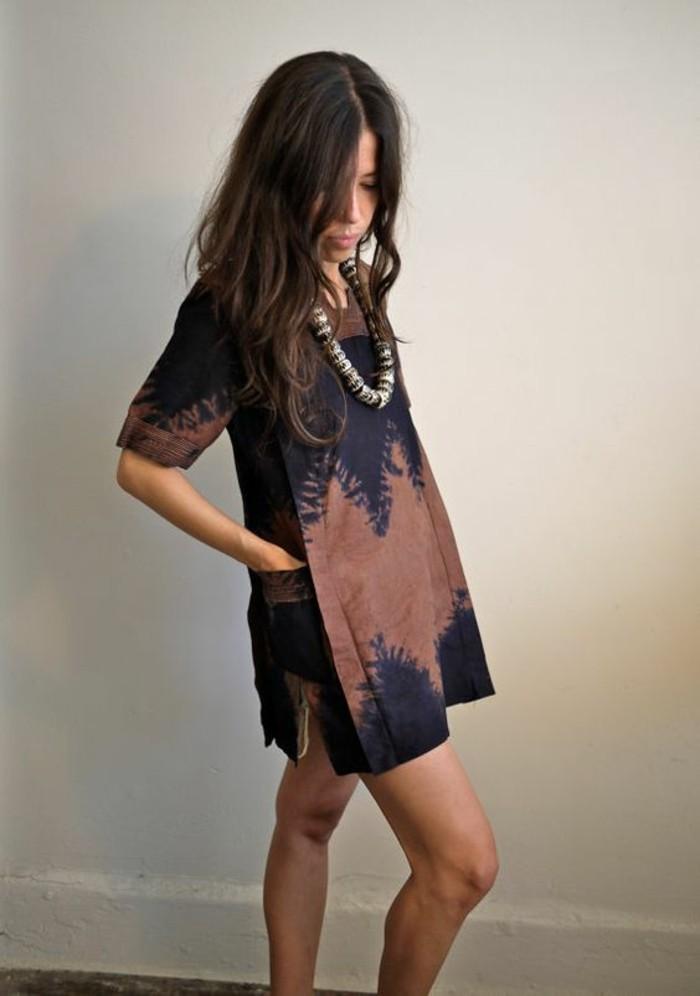 robe-décontractée-été-look-décontracté-style-décontracté-idée-courte-robe