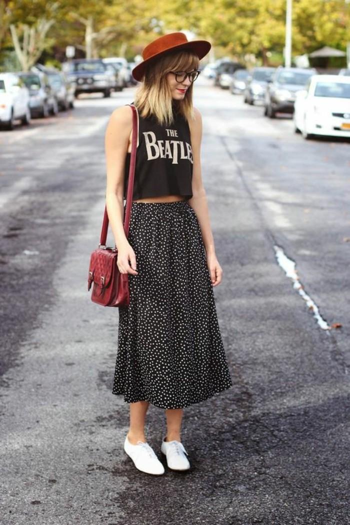 robe-décontractée-été-look-décontracté-style-décontracté-jupe-mi-longue