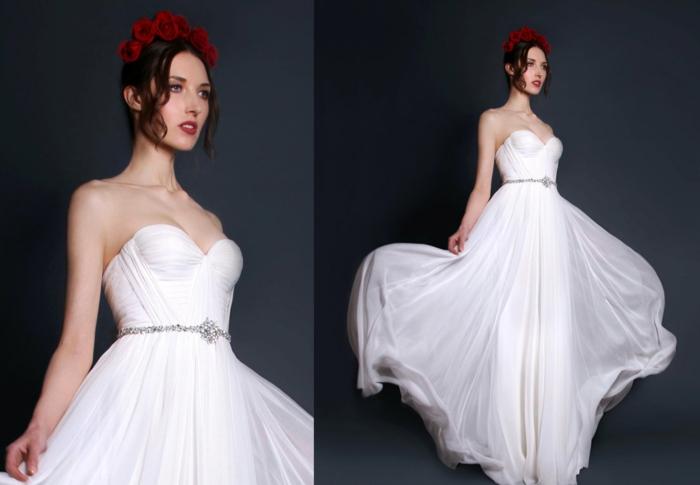 robes-de-mariée-bustier-manche-dentelle-inspiration-robe-de-mariée-simple