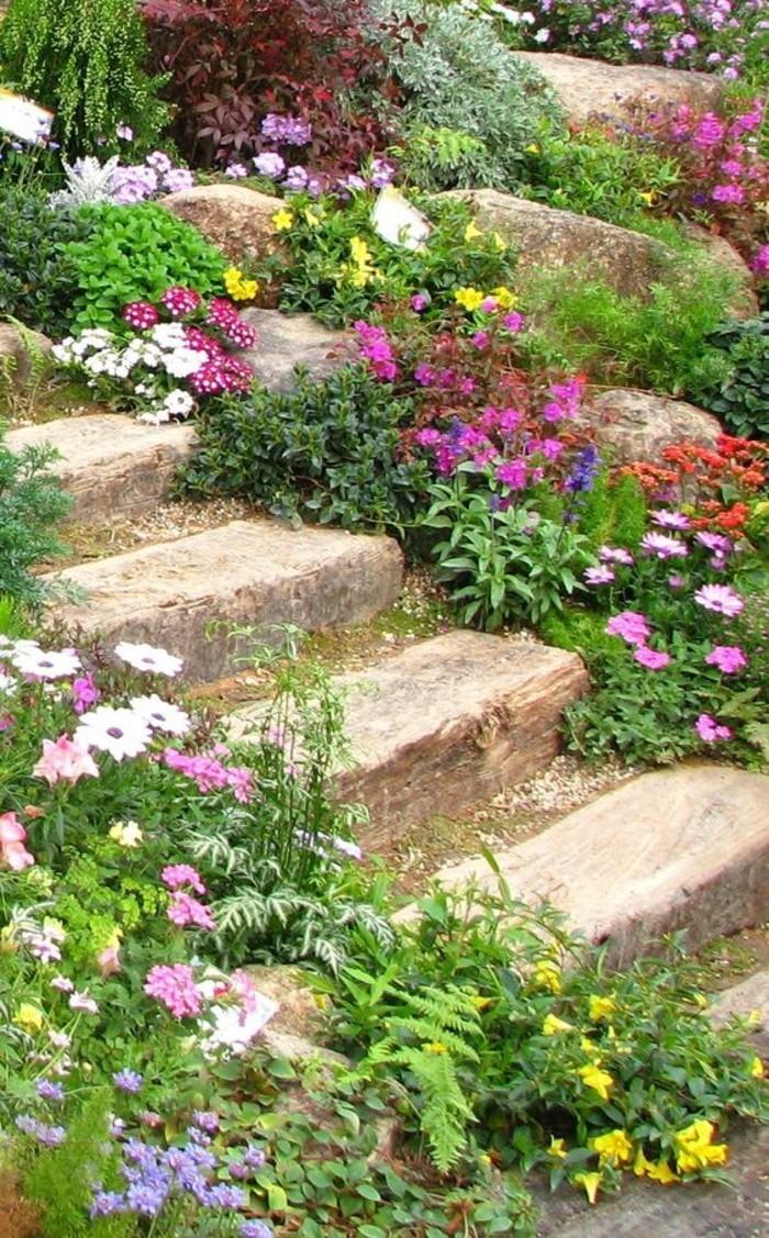 rocaille-fleurie-en-pente-abrupte-escalier-en-pierre-bordé-en-pierre-et-fleur-de-rocaille-amenagement-jardin-coloré
