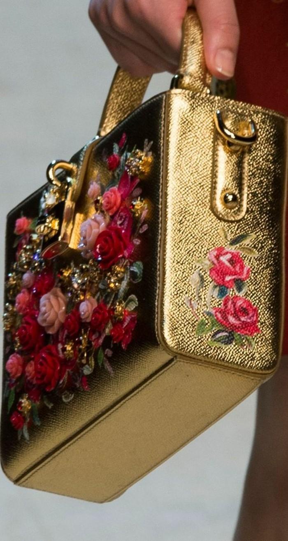 sac-à-mains-femme-Dolce-et-Gabbana-fleuri