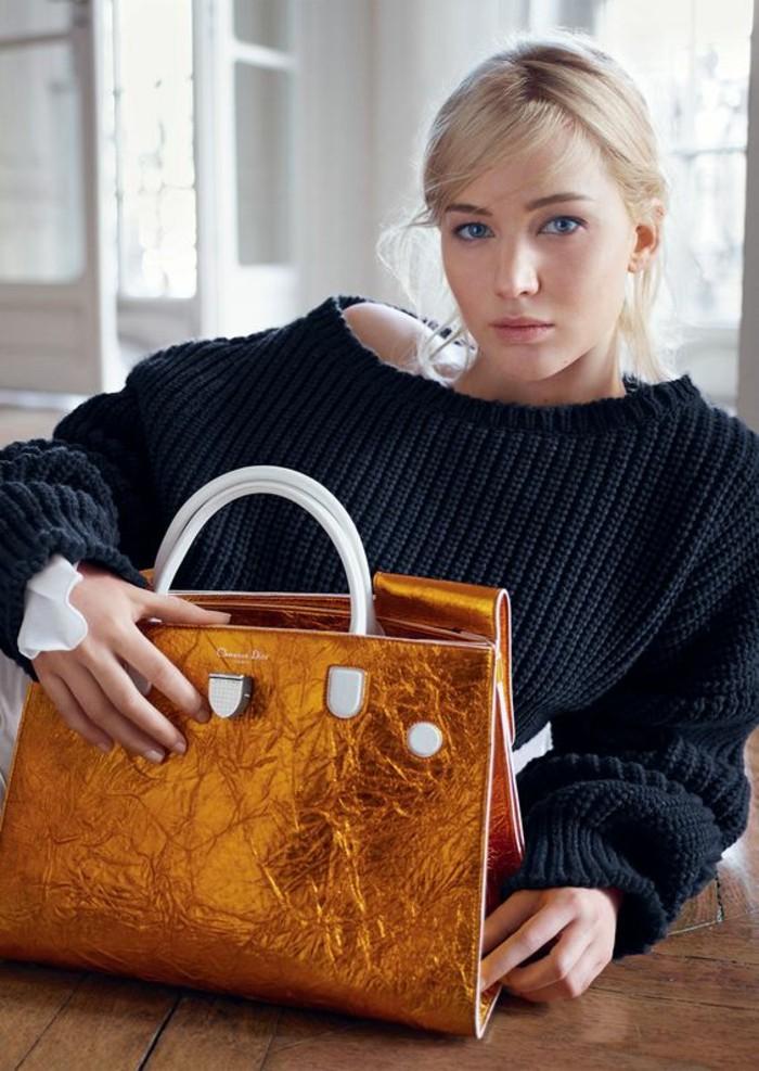 sacs-à-main-femme-Christian-Dior-jaune-motifs-croco