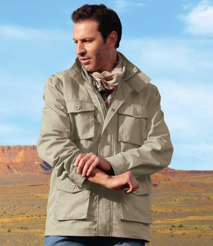 parka aigle atlas for men beige pas cher