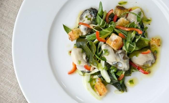 que faire en cas de déficit de fer, idée menu riche en fer, aliment contenant du fer, salade laitue de mer