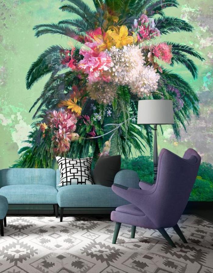 salon-élégant-exotique-papier-peint-jungle-tropical