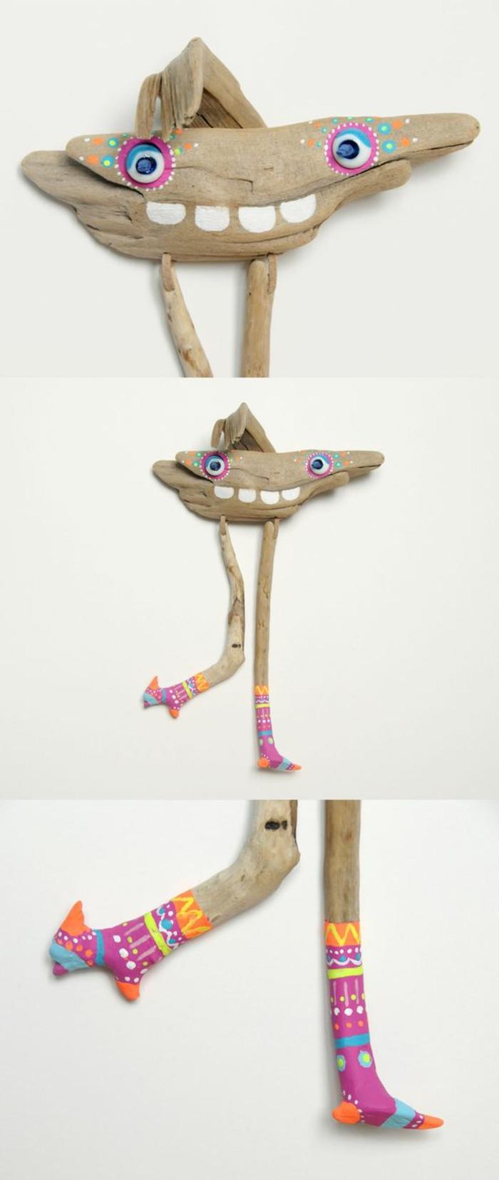 sculpture bois flotté, un être original fait de bois flotté