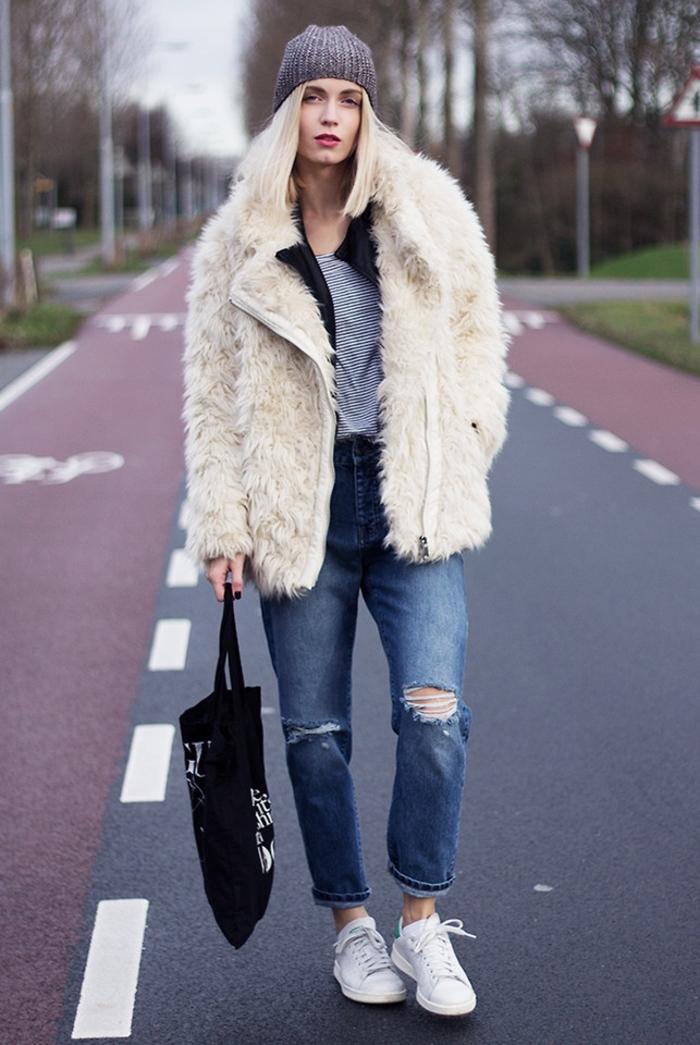buy online 1cd1f b6465 Comment porter des Stan Smith – 85 idées féminines pour un look  impressionnant ...