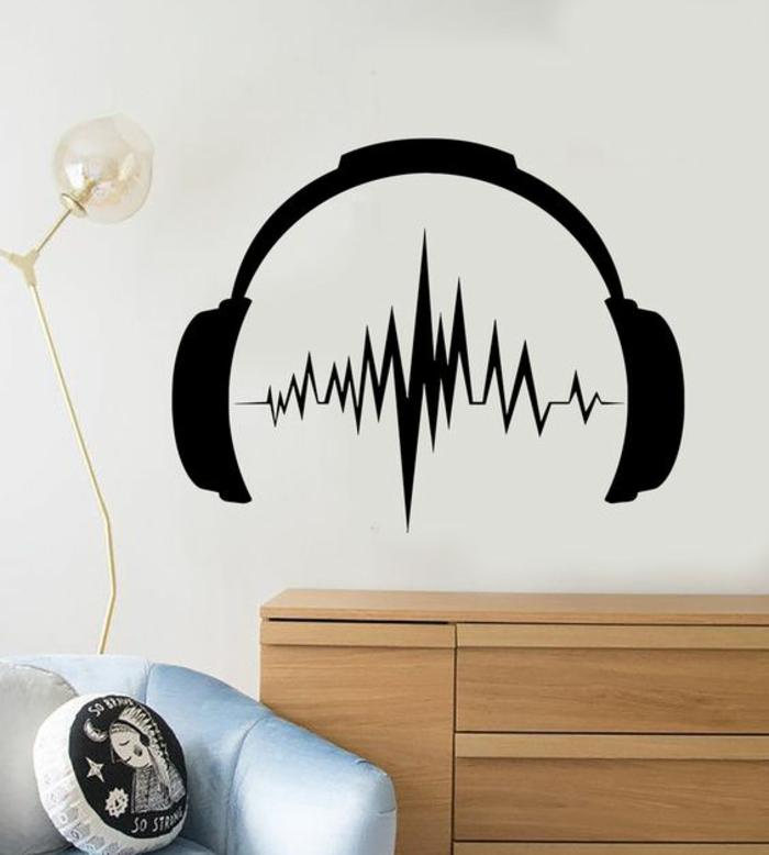 stickers-muraux-musicaux-écouteurs-déco-chambre-ado-originale