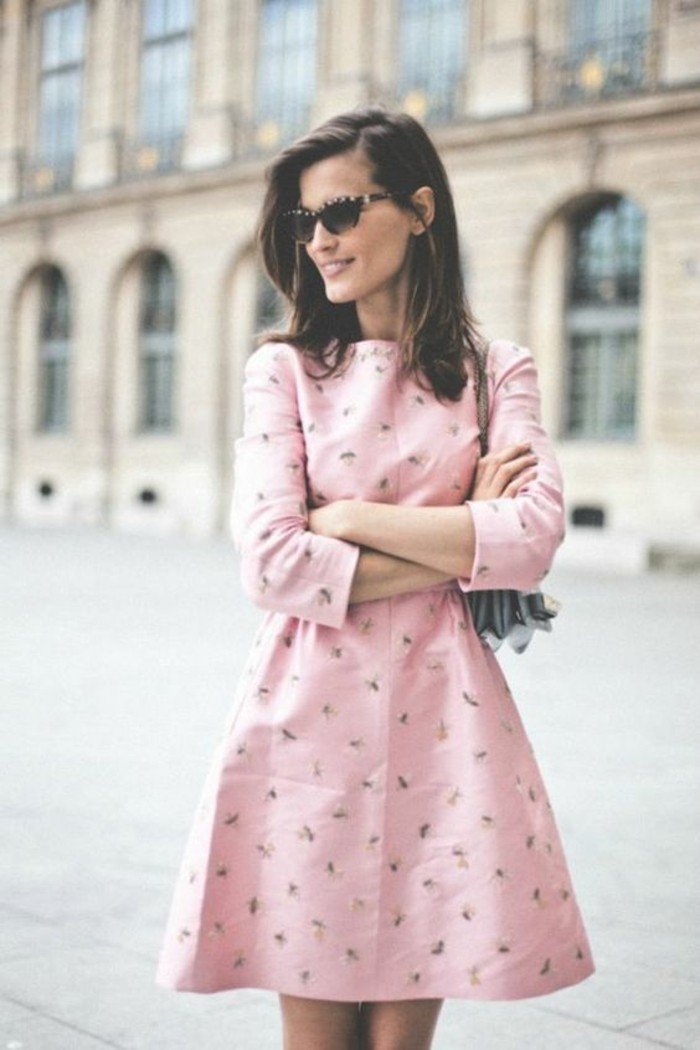 style-décontracté-chic-femme-style-femme-chic-robe-rose
