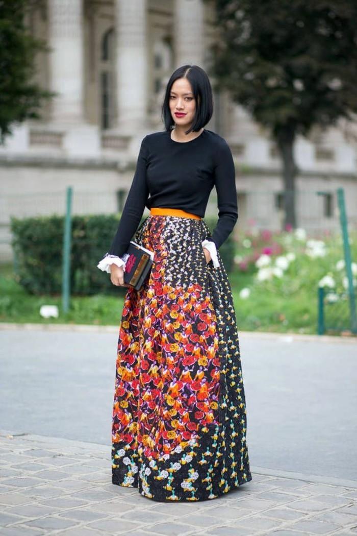 superbe-idée-comment-s-habiller-en-hiver-tenue-femme-hiver-jupe-grande