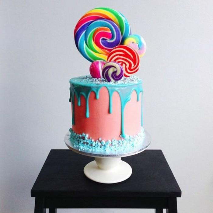 superbe-idée-gateau-anniversaire-facile-préparer-bonbons