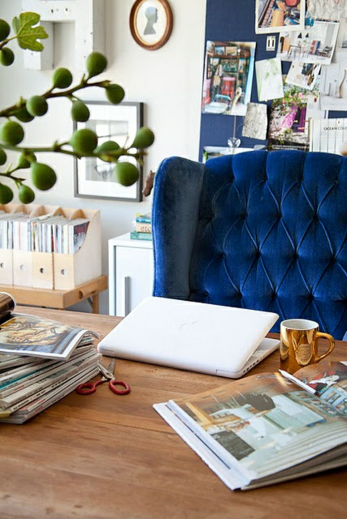 superbe-idées-déco-chambre-deco-bleu-et-jaune-fauteuil
