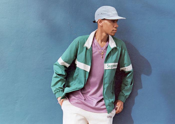 veste et casquette supreme style vintage 90