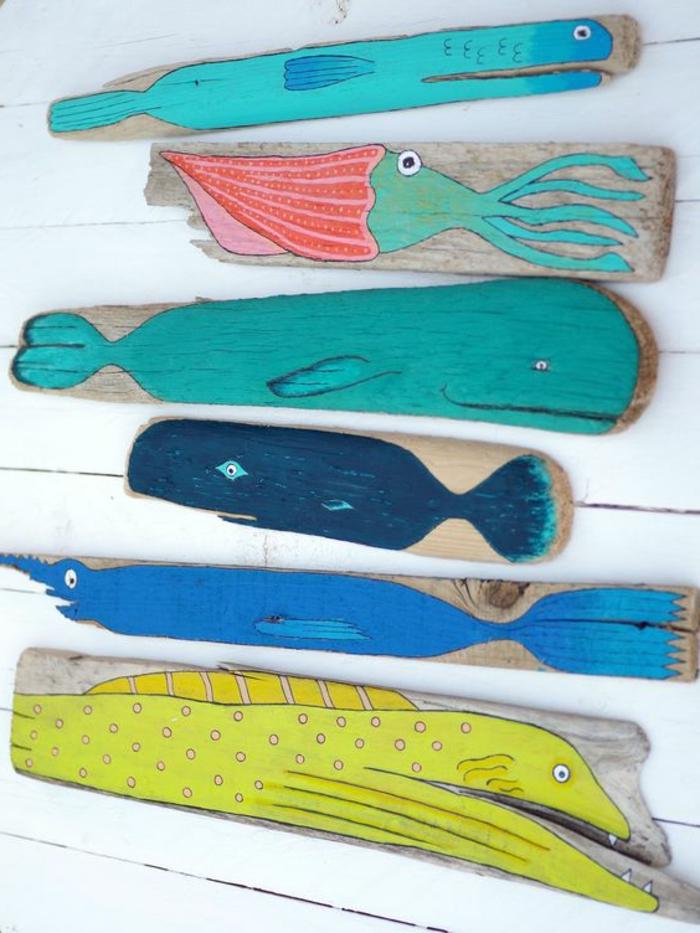 sculpture bois flotté, comment décorer sa chambre avec objets originaux