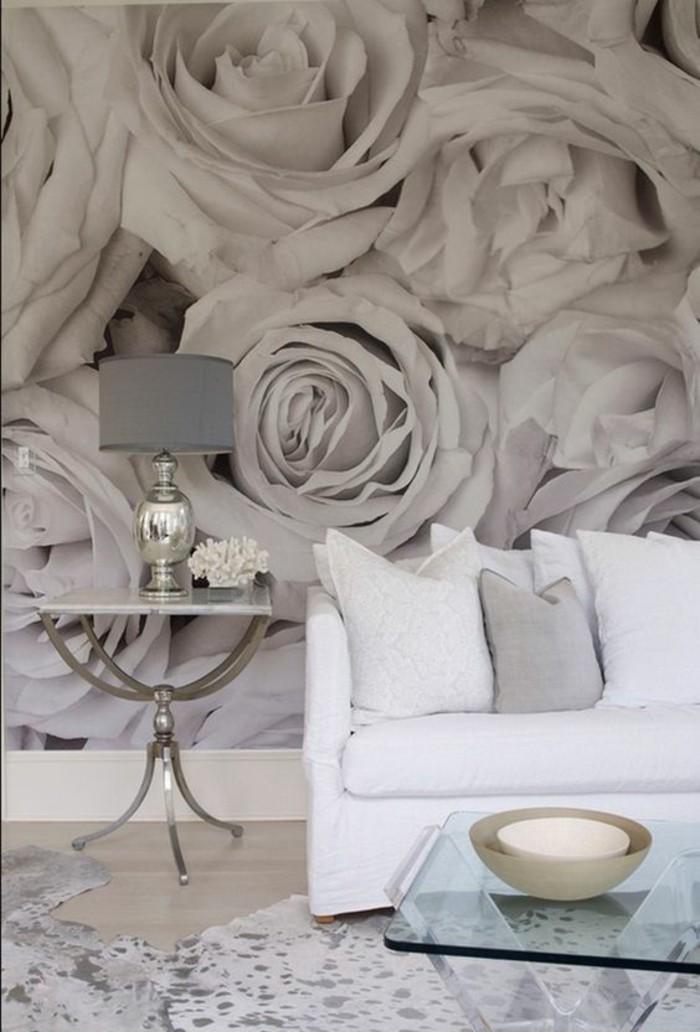 tapisserie-3D-roses-géantes-salon-moderne-intérieur-clair