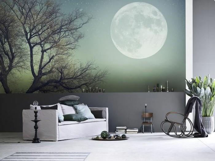 tapisserie-murale-effet-3d-lune-papier-peint-décoratif