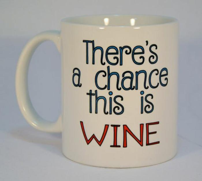 tasse personnalisée, pour tous les admirateurs du vin