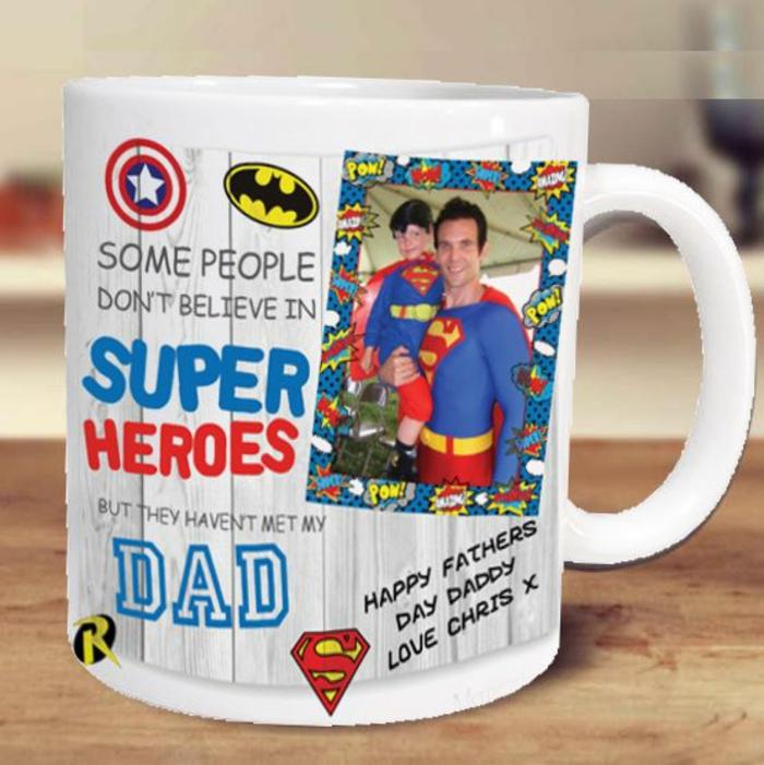 tasse personnalisée, pour les pères super héros
