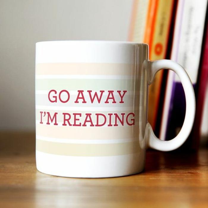 tasse personnalisée, cadeau pour les fans des livres