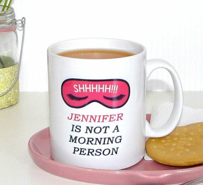 tasse personnalisée, cadeau original pour les fans du café