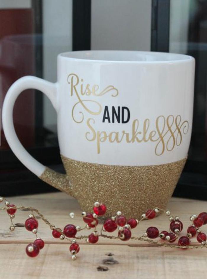 tasse personnaisée rises and sparkles
