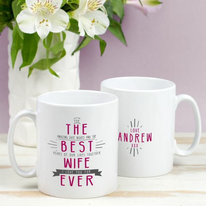 tasse personnalisée, cadeaux d'amoureux