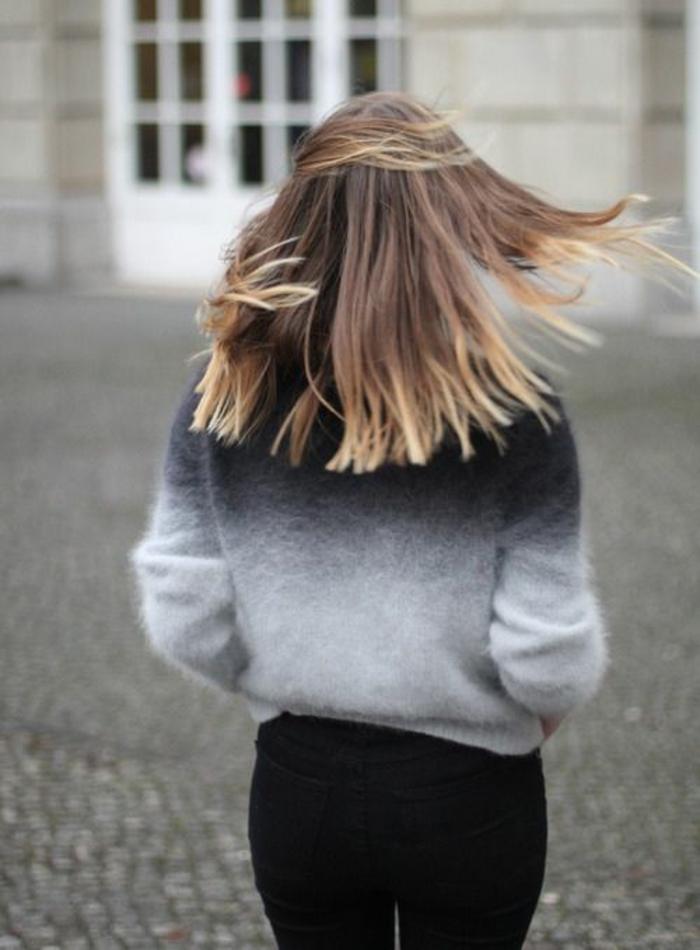 la tendance coiffure highlights, coloration tie and dye par touches