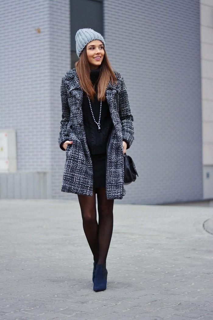 robe noire veste grise les vestes la mode sont populaires partout dans le monde. Black Bedroom Furniture Sets. Home Design Ideas