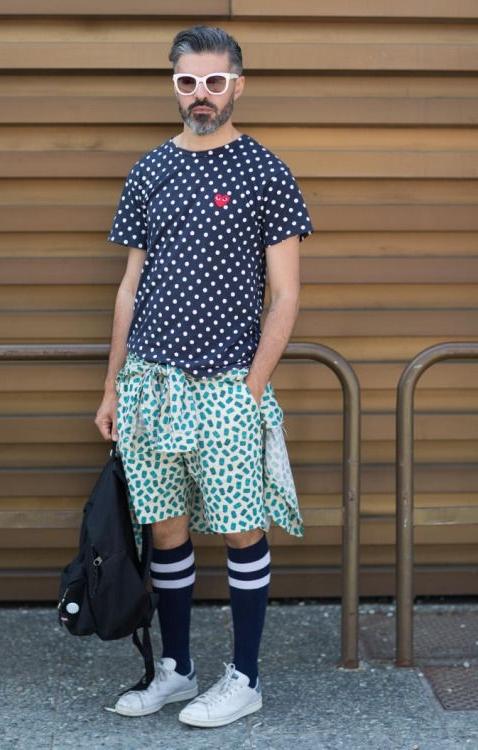 chaussette haute style hipster été avec short