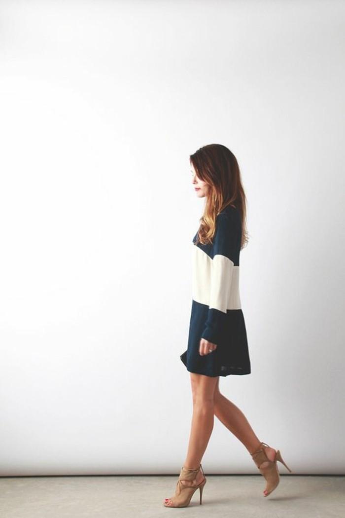 tenue-soirée-décontractée-robe-decontractee-robe-courte-sandales