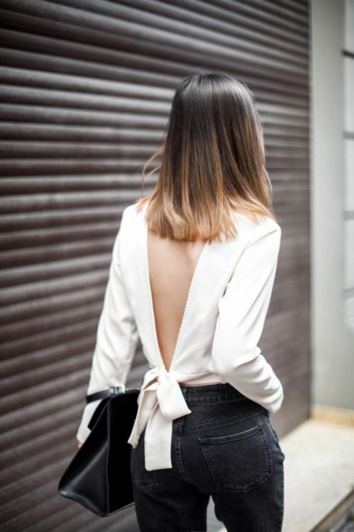 balayage sur des cheveux courts, comment adopter un tie and dye carré