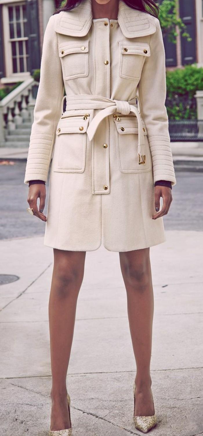 trench-femme-Nordstrom-coupe-très-élégante-en-laine-couleur-crème