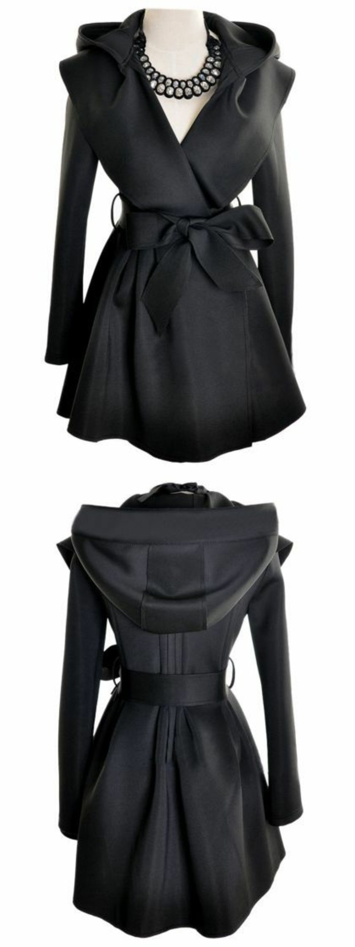 trench-femme-en-noir-coquet-féminin-avec-capuche
