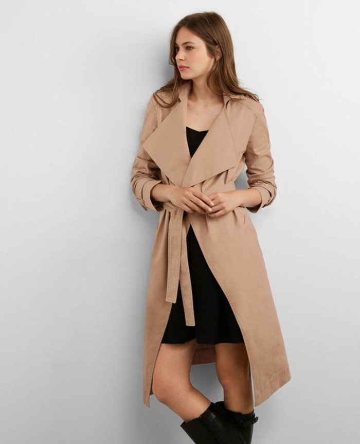 b922451bf602 Trench Fluide. Gallery Of Charme Femme Vtements Suncoo Trench Fluide ...