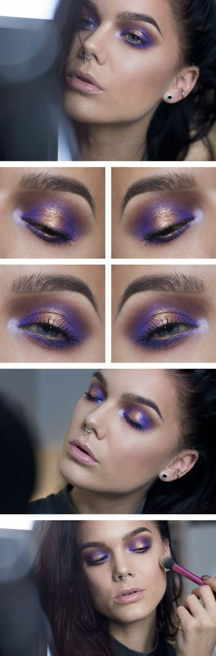 tutoriel-maquillage-maquillage-pour-brunes-avec-doré-et-lilas