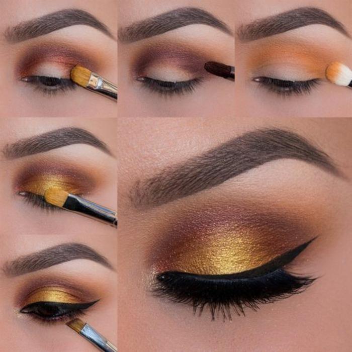 tutoriel-maquillage-oeil-de-chat-doré-et-noir-nuance-de-couleur-prune