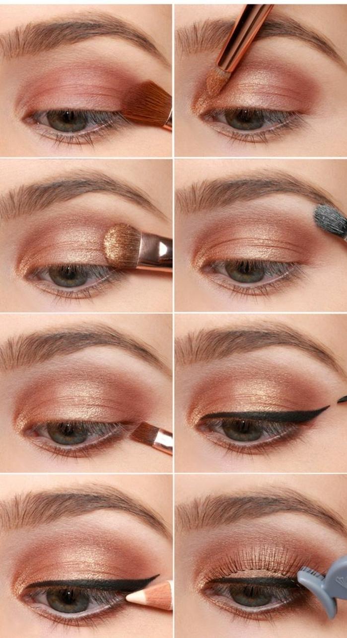tutoriel-maquillage-pas-à-pas-pour-se-faire-belle-maquiller-les-yeux-bleus