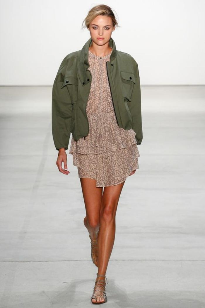 veste d ete femme courte style militaire