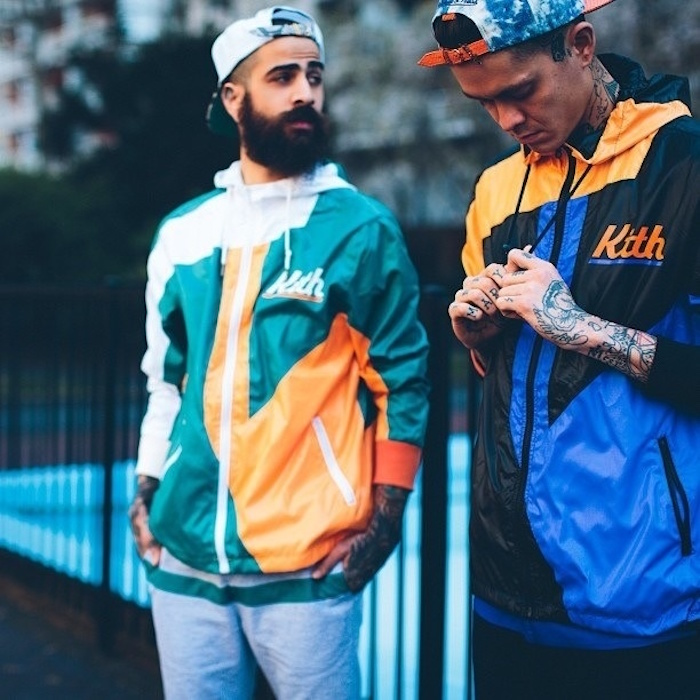 coupe vent kith couleurs style annee 90 hipster vintage kway