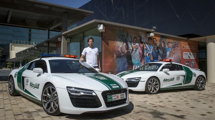 voiture-de-police-dubai-Feliciano-Lopez-Audi-R8