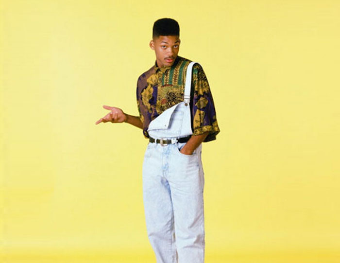 will wmith prince de bel air salopette en jean look année 90