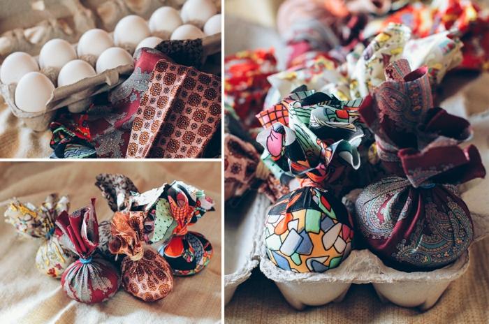 Oeufs de pâques en chocolat idée comment faire soie couleurs