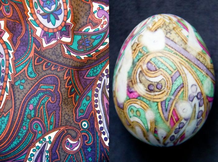 Beau oeuf de Pâques décoration coloration simple idée jolie